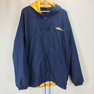 Vtg Nike Windbreaker Jacket XL 1990's Hooded Blue
